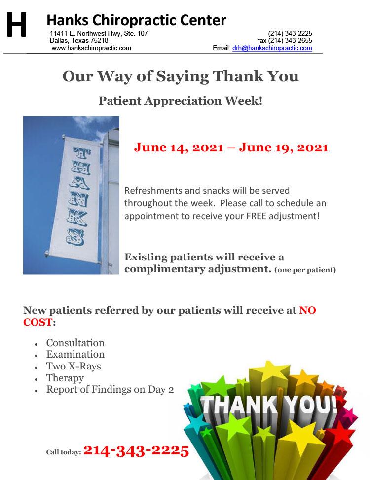 Chiropractic Dallas TX Patient Appreciation Day